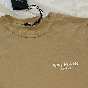 BALMAIN**Beige Cotton T-Shirt**Med. $589